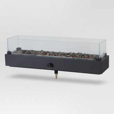 Two Harbors 28  LP Tabletop Gas Fire Pit - Rectangle - Project 62™