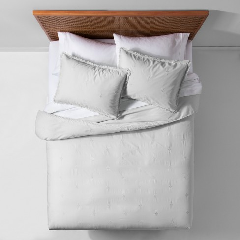 Garment Washed Embroidered Duvet Cover Set - Opalhouse™ - image 1 of 4
