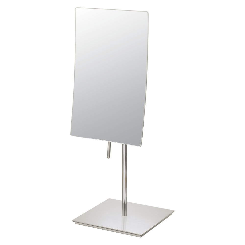 "Image of ""Bathroom Mirror Image Minimalist Rectangular Vanity Bathroom Mirror 5""""x8"""" Brushed Nickel - Aptations, Brushed Nickle"""