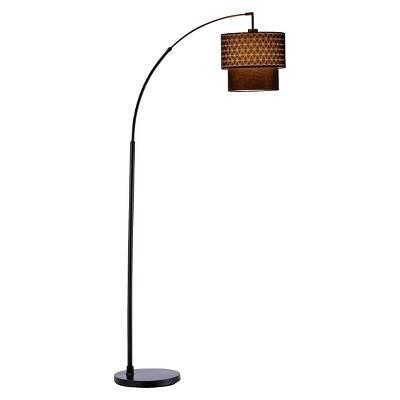 "66"" x 71"" 3-way Gala Arc Lamp Black - Adesso"