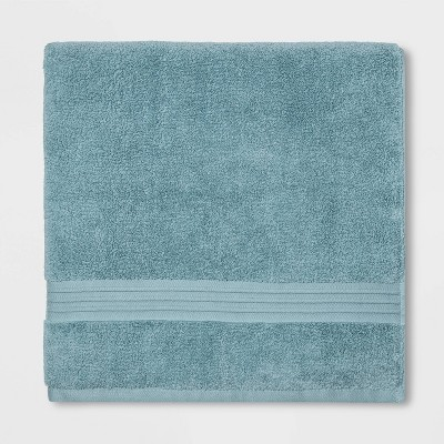 Spa Bath Sheet Aqua - Threshold Signature™