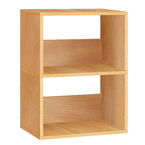 Way Basics 2-Shelf Duplex Narrow Bookcase - Eco Shelf, Natural - Formaldehyde Free - Lifetime Guarantee - image 1 of 5