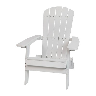 Flash Furniture Charlestown All-Weather Poly Resin Indoor/Outdoor Folding Adirondack Chair