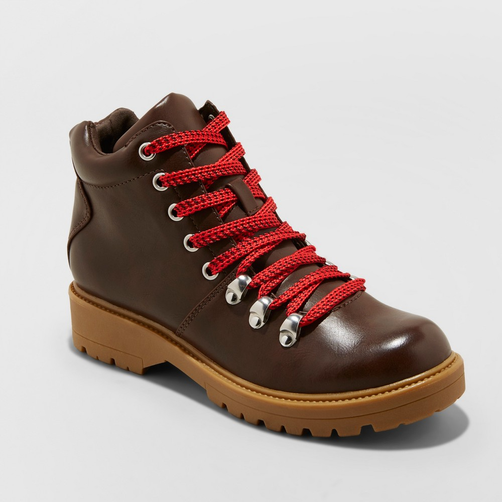 Women's Karri Lace Up Hiker Boots - Universal Thread Brown 8
