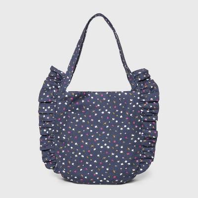 Girls' Ruffle Tote Handbag - Cat & Jack™ Navy