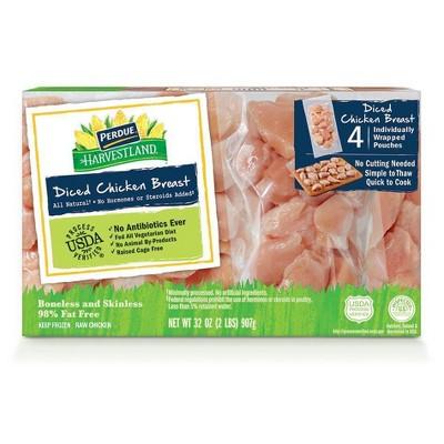 Perdue Harvestland Diced Chicken Breasts - Frozen - 2lbs