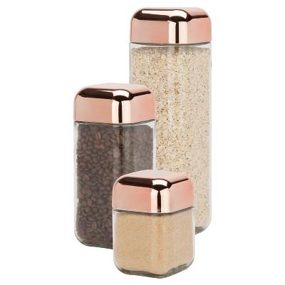 Honey-Can-Do Square Storage Jar Set 3-pc.