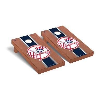 MLB New York Yankees Premium Cornhole Board Rosewood Stained Stripe Version