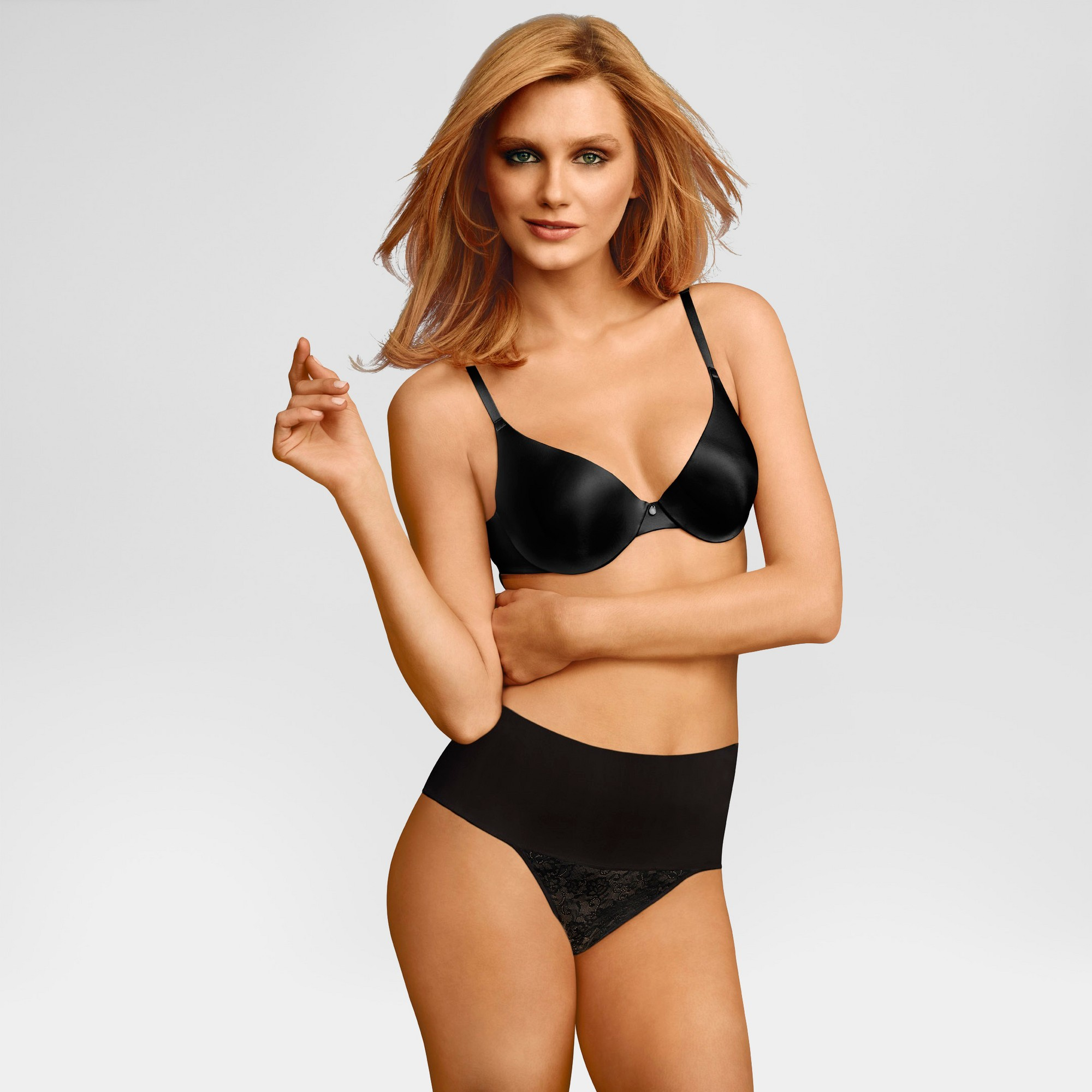 Maidenform Self Expressions Women's Tame Your Tummy Thong - Black Xxl