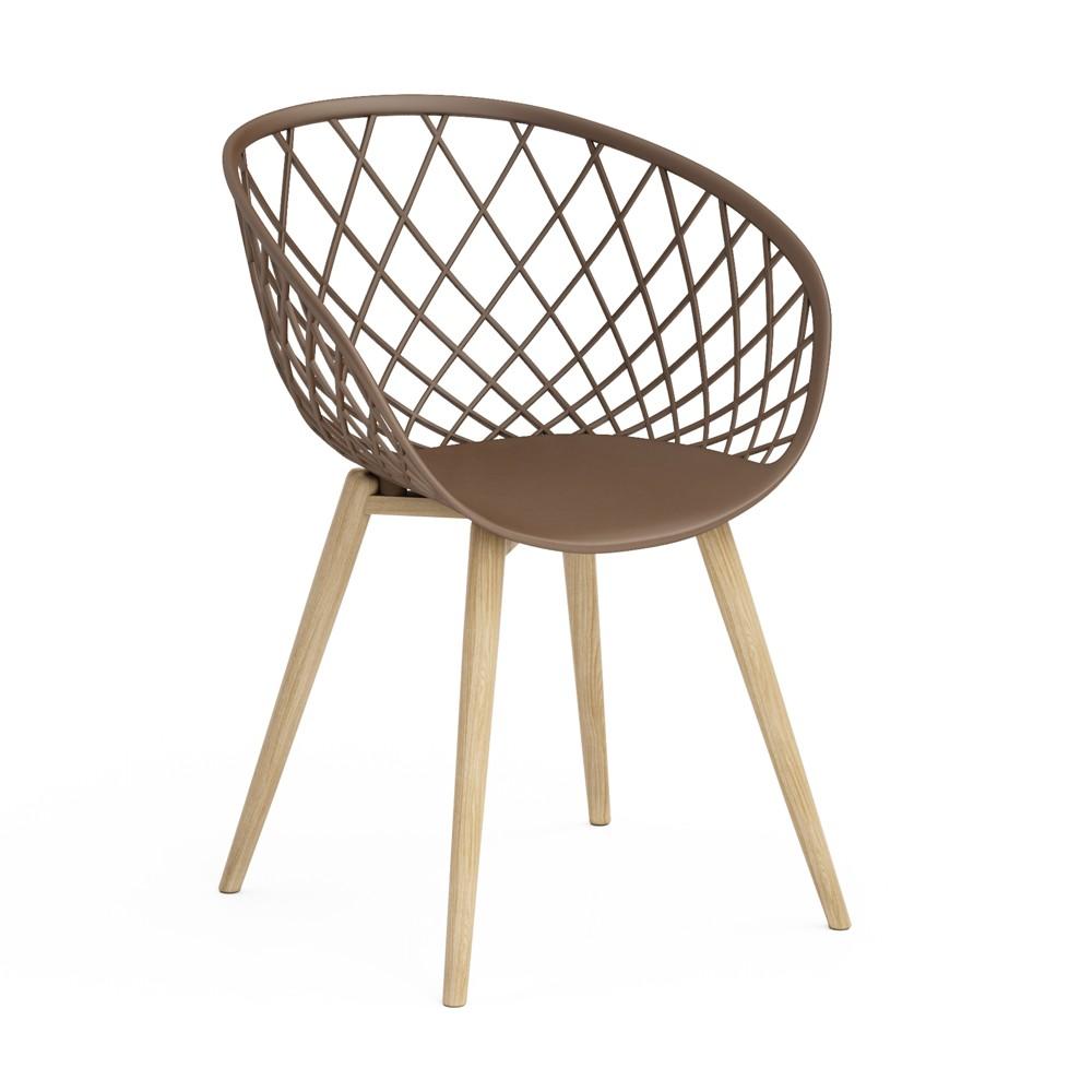 Set of 2 Kurv Chair Taupe (Brown) - Jamesdar