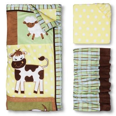 Trend Lab 3pc Crib Bedding Set – Baby Barnyard