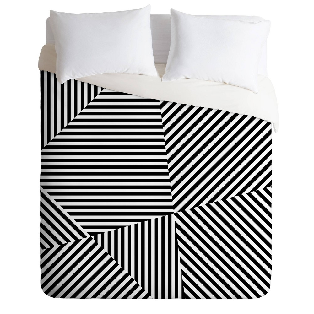 Twin Twin Xl Three Of The Possessed Dazzle New York Duvet Set Black White Deny Designs