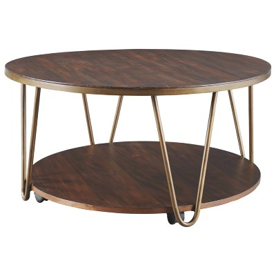 Lettori Round Cocktail Table Brown - Signature Design by Ashley
