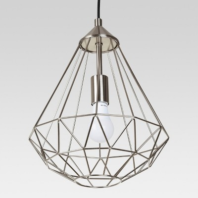 Entenza Faceted Geometric Pendant Ceiling Light Brushed Nickel Lamp Only - Project 62™