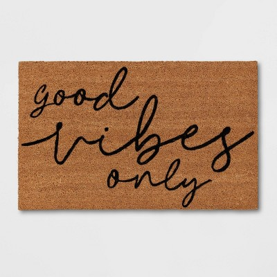"""1'6""""x2'6"""" Good Vibes Only Doormat - Room Essentials™"""