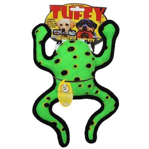 Tuffy Phrog Leap Dog Toy - Green - image 1 of 4