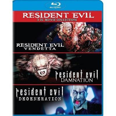 Resident Evil: Damnation / Resident Evil: Degeneration / Resident Evil: Vendetta (Blu-ray)(2017)