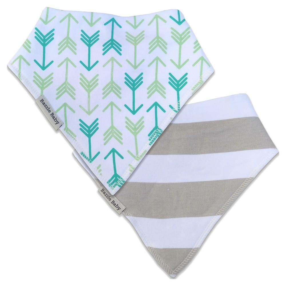 Bazzle Baby Banda Bib Set Arrows & Stripes - 2pk, Gray
