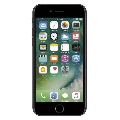 Apple iPhone 7 Pre-Owned (GSM Unlocked) 32GB Smartphone - Black - image 1 of 2