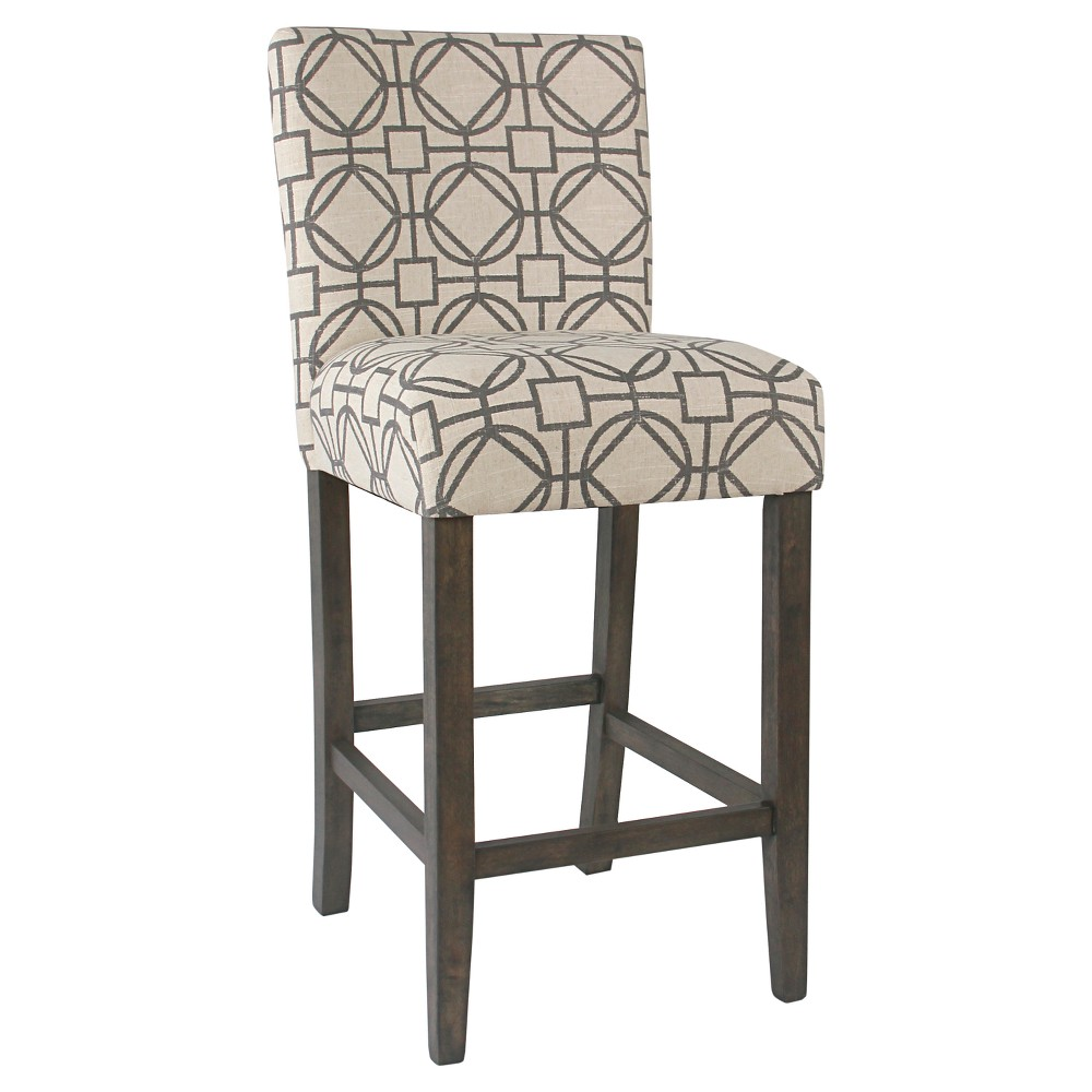 Classic Parsons Barstool Gray Lattice - HomePop was $139.99 now $111.99 (20.0% off)