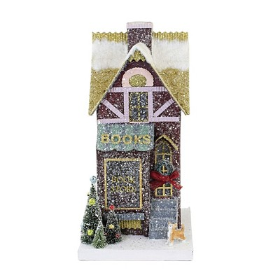"Christmas 14.0"" Book Shop Light Up Village Putz Retro  -  Decorative Figurines"