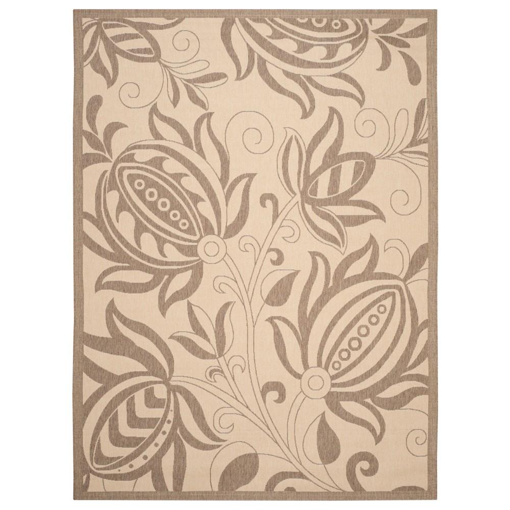 Gori Rectangle 9' X 12' Outdoor Patio Rug - Natural / Brown - Safavieh