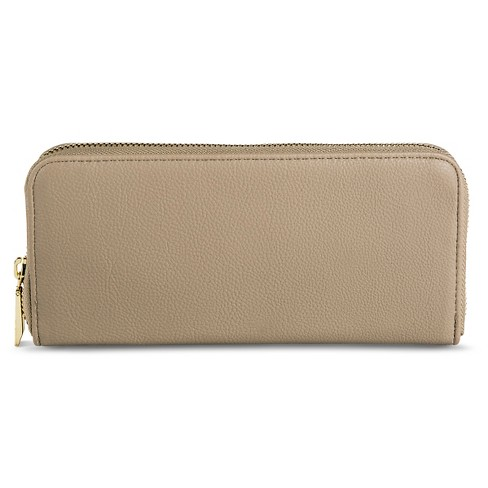 Zip Around Faux Leather Wallet - A New Day™ Silver - image 1 of 2