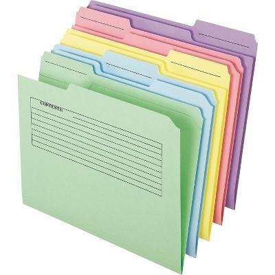 Pendaflex Printed Notes Folders, 1/3 Cut Top 45269