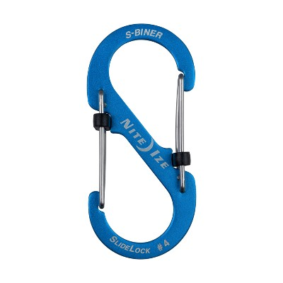 Nite Ize S-Biner SlideLock Aluminum #4 - Blue
