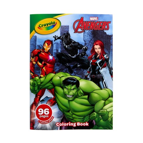 Crayola 96pg Marvel Avengers Coloring Book with Sticker Sheet - image 1 of 4