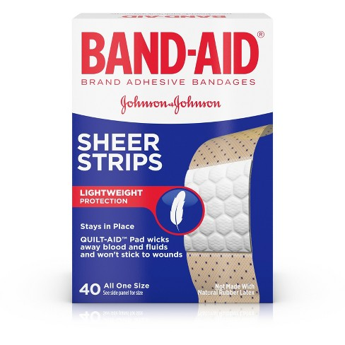 band aid adhesive bandages sheer strips 40ct target