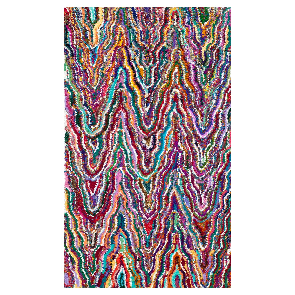 Stripes Tufted Accent Rug - (3'x5') - Safavieh, Multi-Colored
