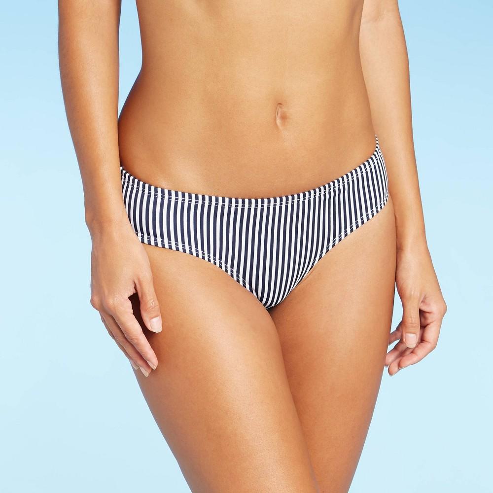 Juniors 39 Cheeky Bikini Bottom Xhilaration 8482 Navy Stripe S