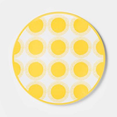 "10.5"" Melamine Dot Dining Plate Yellow - Sun Squad™"