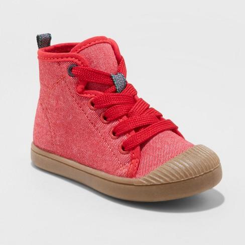 Toddler Boys  Bert Canvas Hightop Sneakers - Cat   Jack™ Red   Target f4f25105ca1d