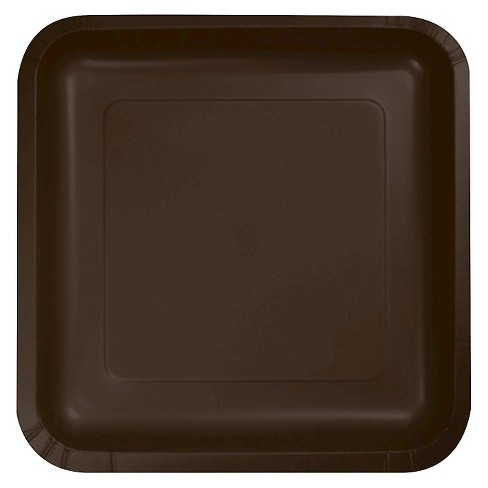 "Chocolate Brown 7"" Dessert Plates - 18ct - image 1 of 1"