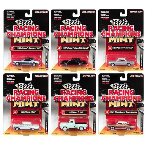 2017 Mint Release 2 Set A Set of 6 Cars 1/64 Diecast Model Cars by Racing Champions - image 1 of 2