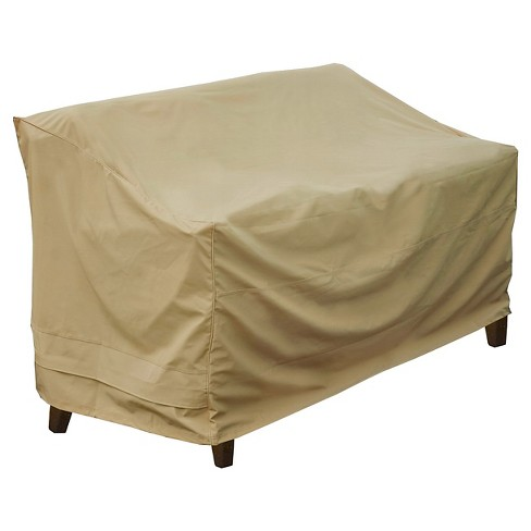 Love Seat Bench Cover - Sand - Seasons Sentry - image 1 of 4
