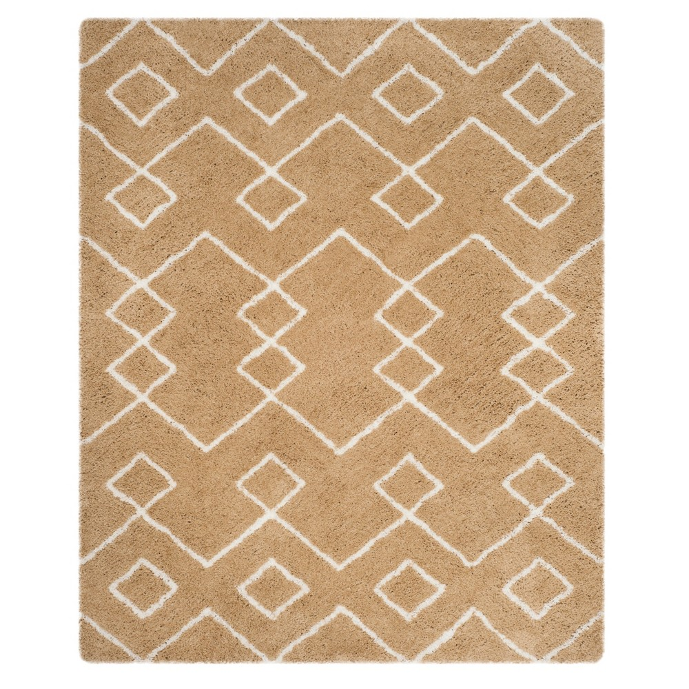 Ivory Geometric Tufted Area Rug 8'X10' - Safavieh, White Beige