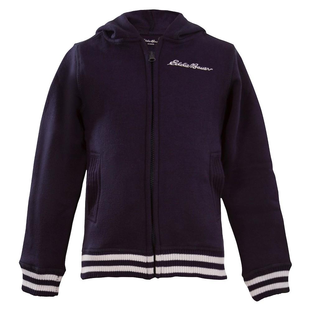 Eddie Bauer Girls' Fleece Zip-Up Hoody 6X - Navy, Blue
