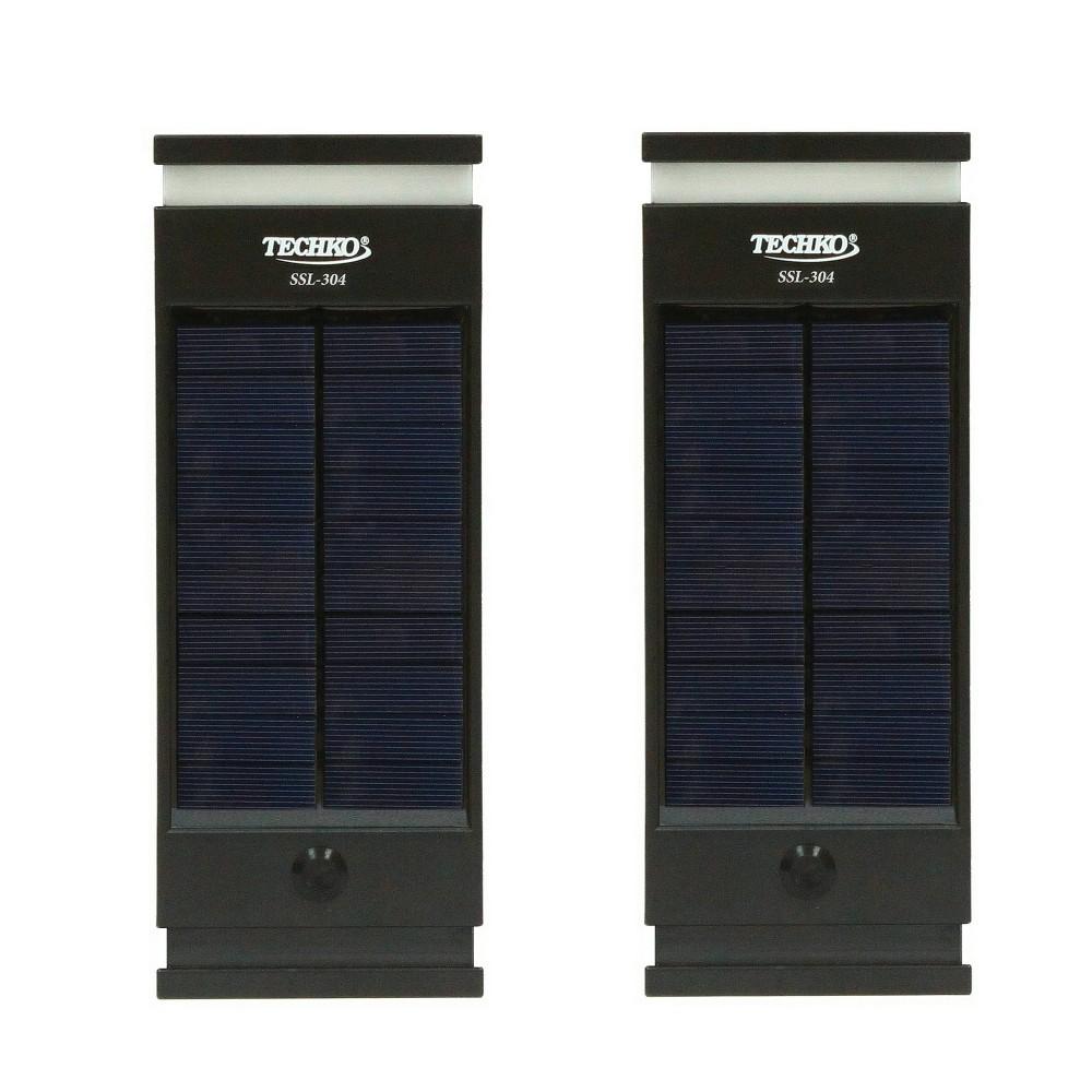 Image of Solar LED Wall Lights Black - Techko