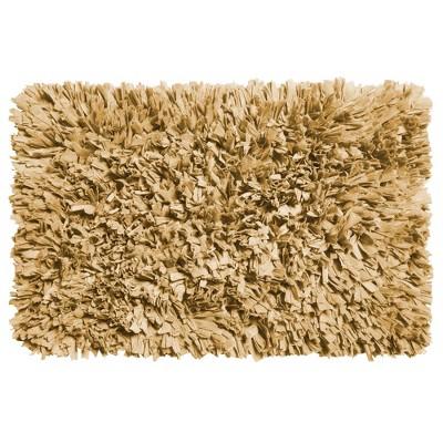 "Carnation Home Fashions Paper Shag Cotton / Poly Blend Bath Mat, 21x34"""