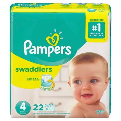 Pampers Swaddlers Diapers Jumbo Pack - Size 4 (22ct)