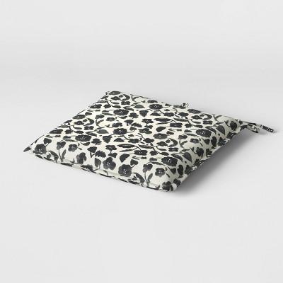 "19"" x 19"" Cushion Seat Pad DuraSeason Fabric™ Black Floral - Opalhouse™"