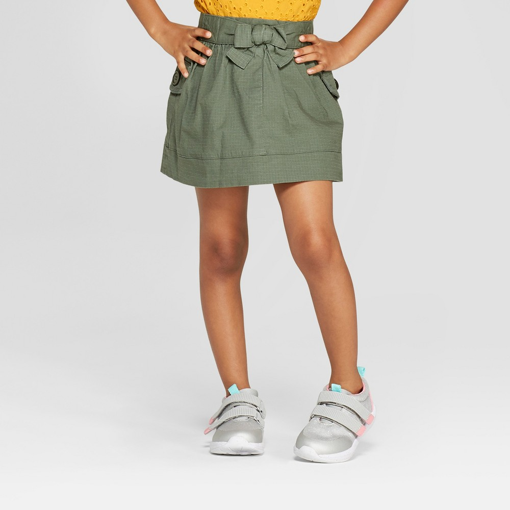 Toddler Girls' A-Line Skirt - Cat & Jack Olive 5T, Green