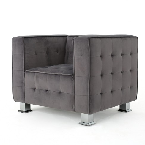 Boden New Velvet Tufted Arm Chair - Christopher Knight Home - image 1 of 4