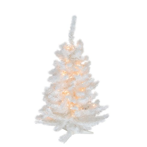 Darice 3' Pre-Lit Snow White Artificial Christmas Tree - Clear Lights
