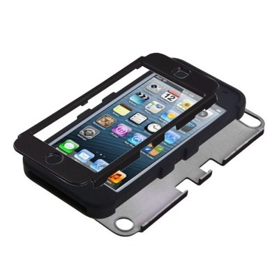 MYBAT For Apple iPod Touch 5th Gen/6th Gen Black Tuff Hard Silicone Hybrid Case Cover