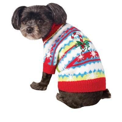 Rubie's Candy Cane Sweater Pet Costume