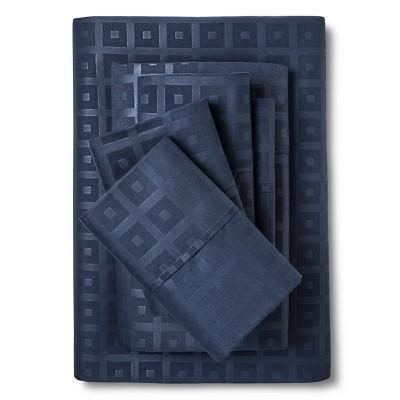 Queen 6pc Natalia Cavalletto Box Design Sheet Set Navy Blue - Christopher Knight Home